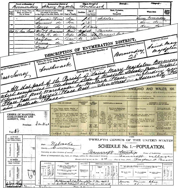 family history reports census data
